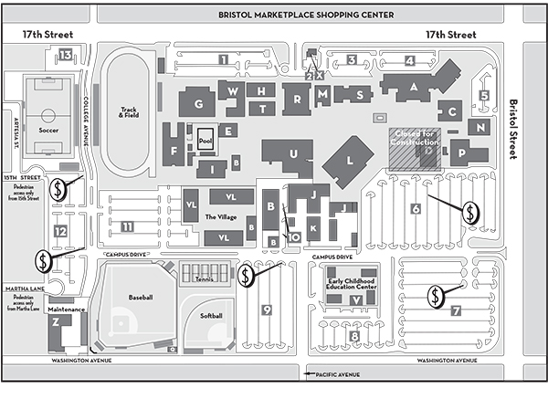 santa ana college campus map