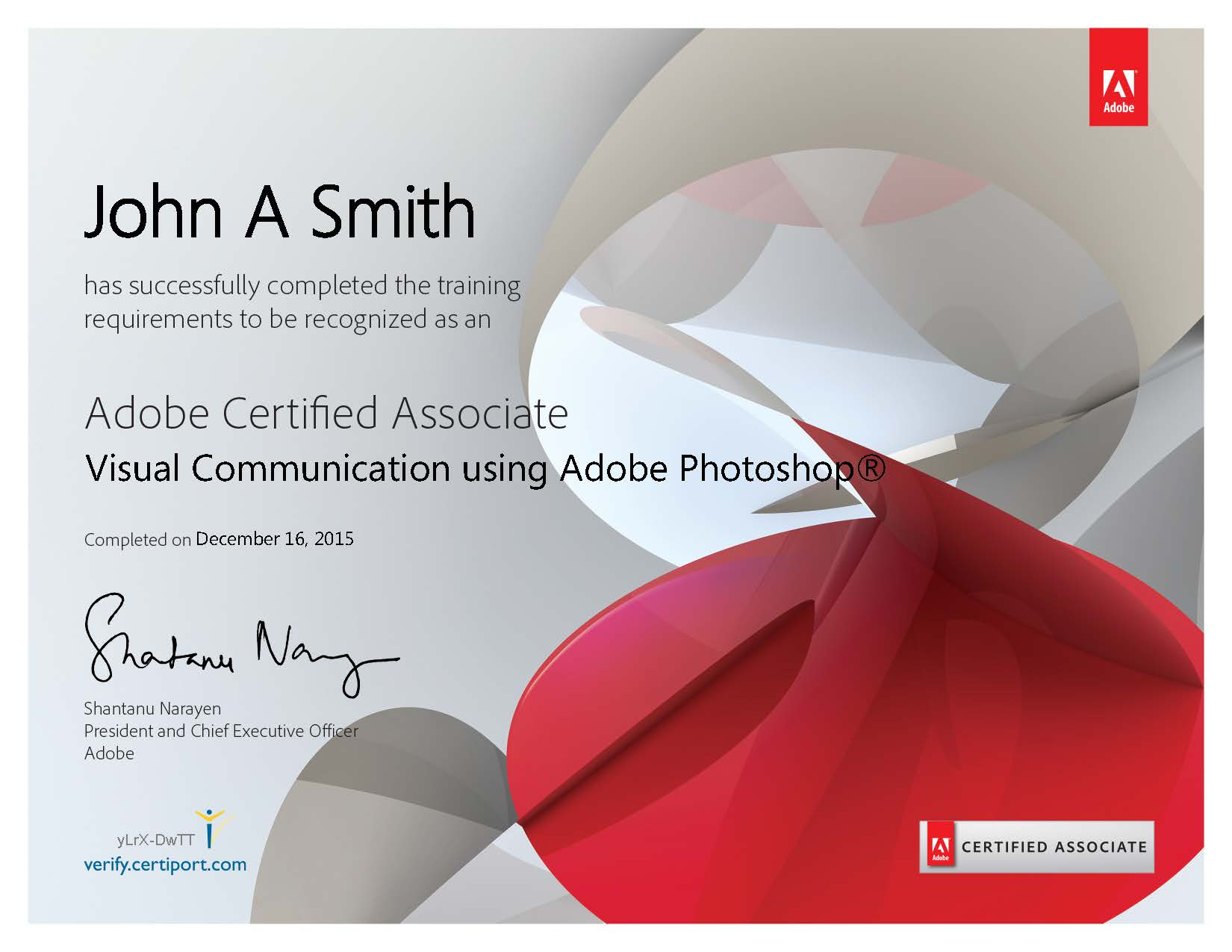 Adobe Certified Associate ACA Certificate