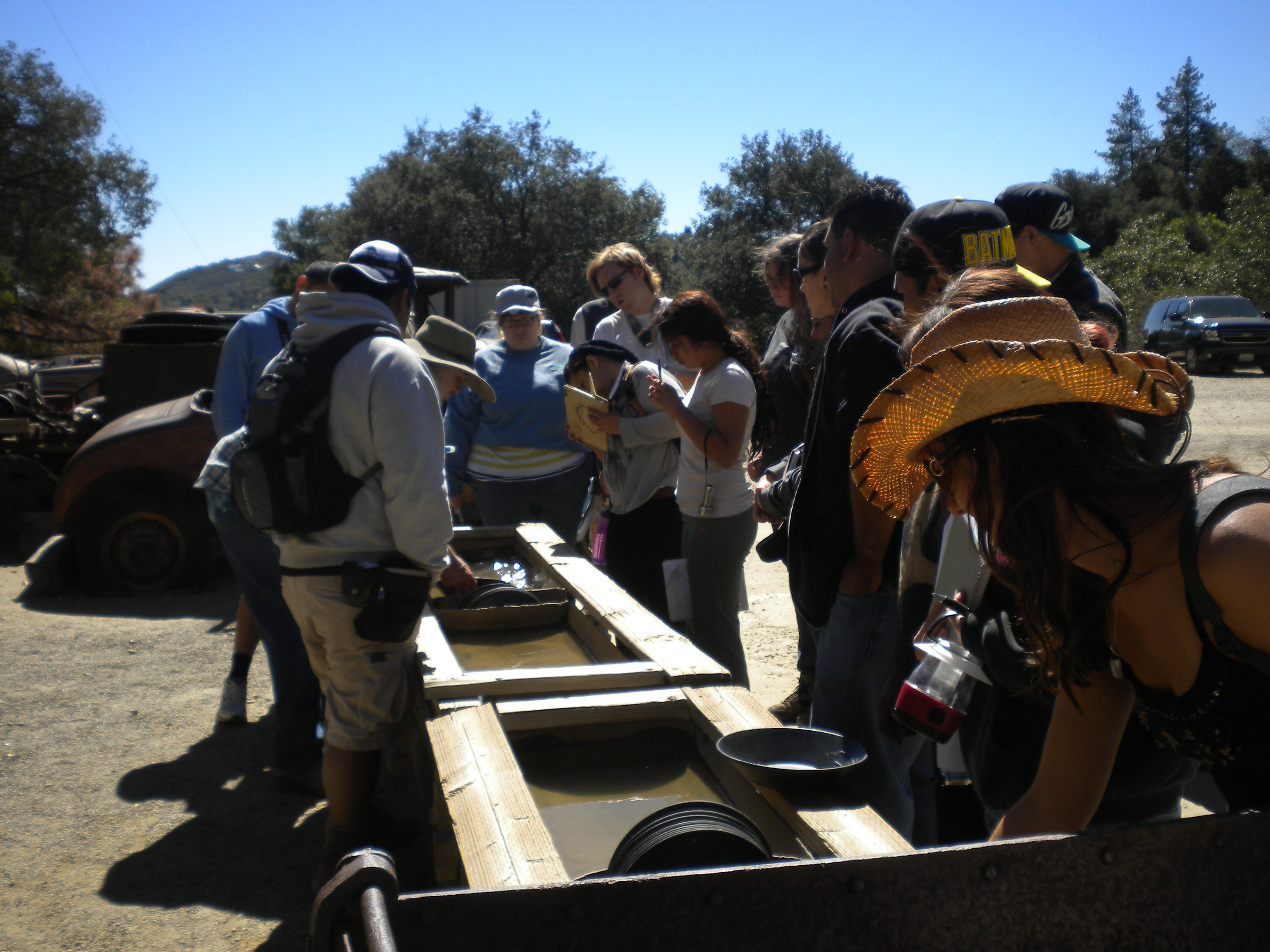 Students Panning for Gold in Julian, CA