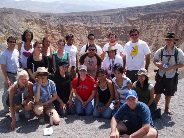 Group Photo of Class at Ubehebe Crater, Death Valley