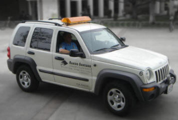 RSCCD Officers in a patrol vehicle