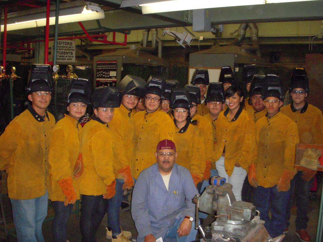 Group picture of automotive technology classes