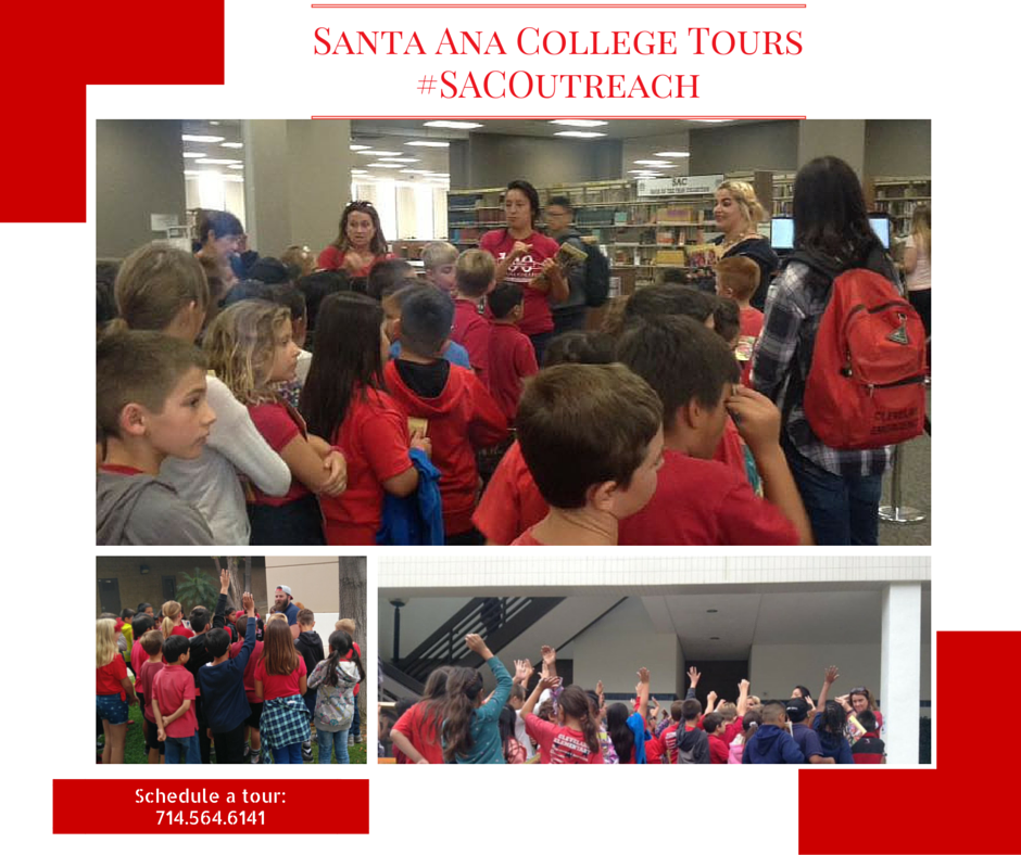 Student Ambassadors giving a college tour guide to a group of elementary school students